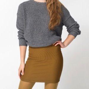 American Apparel brown pencil riding skirt